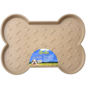 "Loving Pets Bella Spill-Proof Dog Mat - Tan Large (21.25""L x 17.5""W) - All Pets Store"