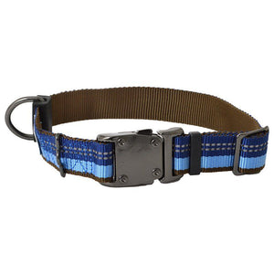 "K9 Explorer Sapphire Reflective Adjustable Dog Collar 12""-18"" Long x 1"" Wide - All Pets Store"