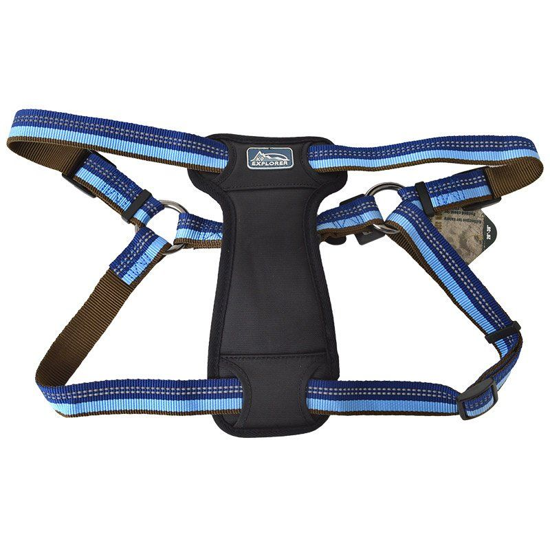 K9 Explorer Sapphire Reflective Adjustable Padded Dog Harness Fits 26