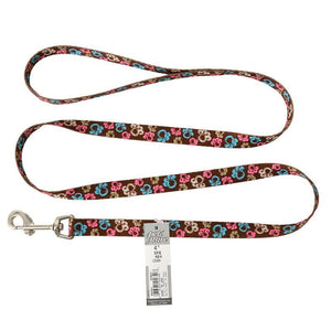"Pet Attire Styles Special Paw Brown Dog Leash 4' Long x 5/8"" Wide - All Pets Store"