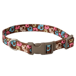 "Pet Attire Styles Special Paw Brown Adjustable Dog Collar 10""-14"" Long x 5/8"" Wide - All Pets Store"