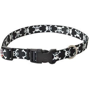 "Pet Attire Styles Skulls Adjustable Dog Collar 18""-26"" Long x 1"" Wide - All Pets Store"