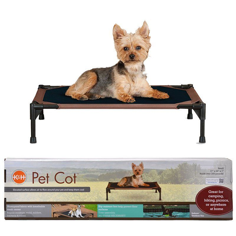 "K&H Pet Cot - Chocolate Brown Small - (17""L x 22""W x 7""H) - All Pets Store"