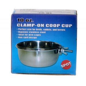 Spot Stainless Steel Coop Cup with Bolt Clamp 10 oz - All Pets Store