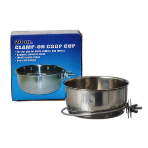 Spot Stainless Steel Coop Cup with Bolt Clamp 20 oz - All Pets Store