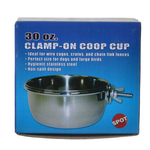 Spot Stainless Steel Coop Cup with Bolt Clamp 30 oz - All Pets Store