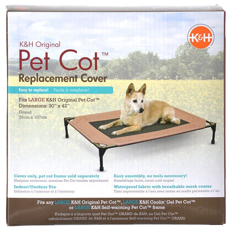 K&H Pet Cot Cover - Chocolate Brown Large - (30