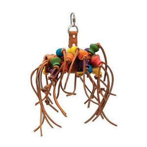 "Penn Plax Bird Life Leather-Kabob Parrot Toy 12"" Long - (Small Parrots & Medium Birds) - All Pets Store"