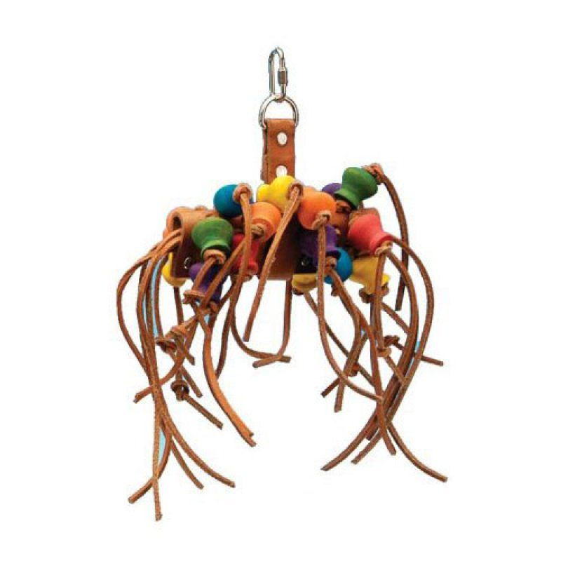 Penn Plax Bird Life Leather-Kabob Parrot Toy 12