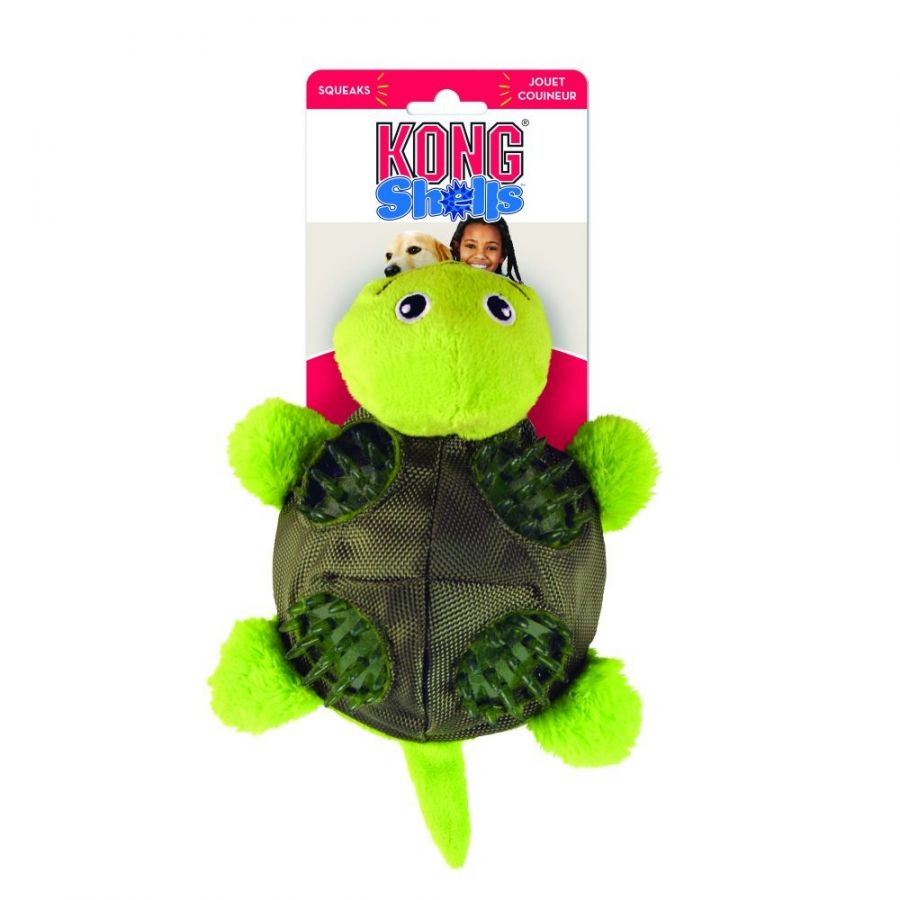 Kong Shells Textured Dog Toy - Turtle Small - 1 Pack - All Pets Store