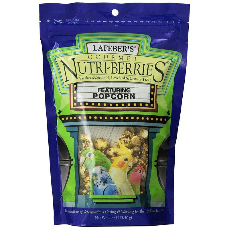 Lafeber Gourmet Nutri-Berries with Popcorn for Parakeet, Cockatiel & Conures 4 oz - All Pets Store