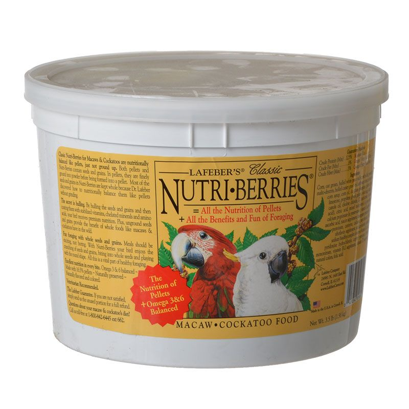 Lafeber Classic Nutri-Berries Macaw & Cockatoo Food 3.5 lb Bucket - All Pets Store
