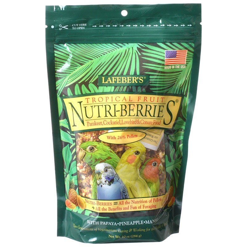 Lafeber Tropical Fruit Nutri-Berries Parakeet, Cockatiel & Conure Food 10 oz - All Pets Store