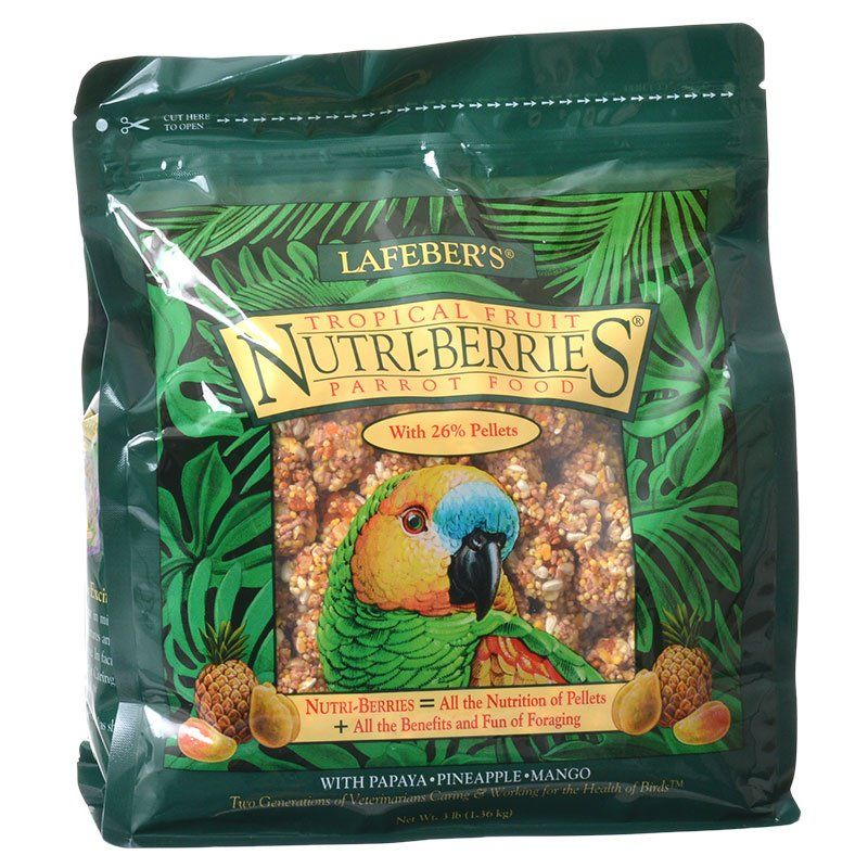Lafeber Tropical Fruit Nutri-Berries Parrot Food 3 lbs - All Pets Store