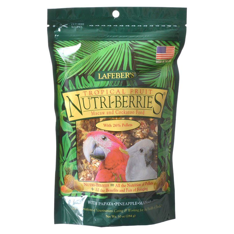 Lafeber Tropical Fruit Nutri-Berries Macaw & Cockatoo Food 10 oz - All Pets Store