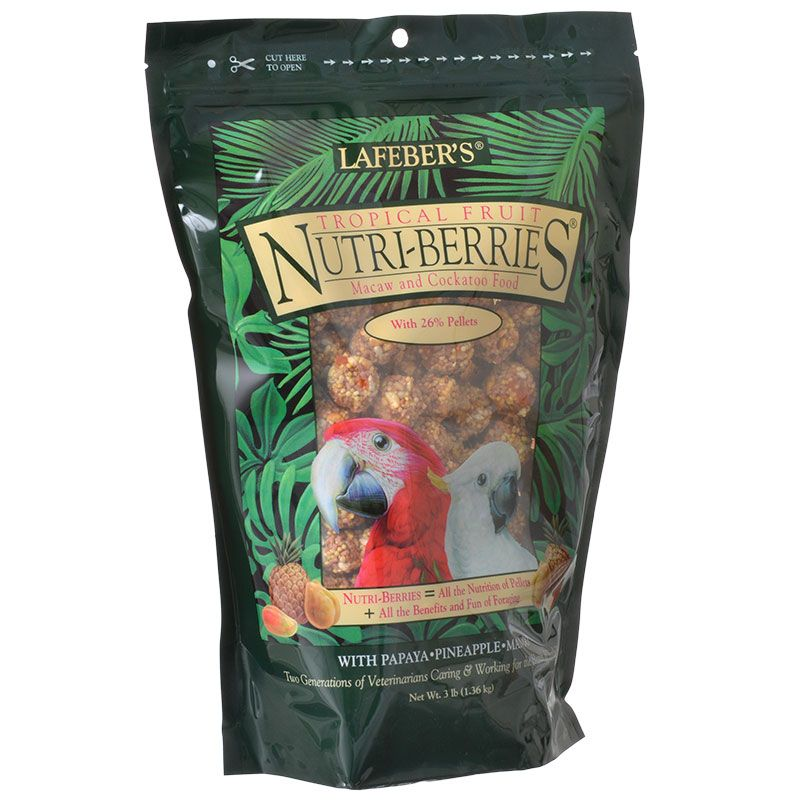 Lafeber Tropical Fruit Nutri-Berries Macaw & Cockatoo Food 3 lbs - All Pets Store