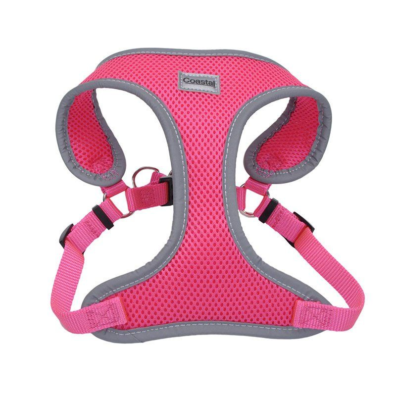 "Coastal Pet Comfort Soft Reflective Wrap Adjustable Dog Harness - Neon Pink X-Small - 16-19"" Girth - (5/8"" Straps) - All Pets Store"