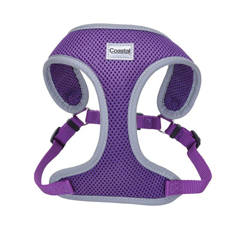Coastal Pet Comfort Soft Reflective Wrap Adjustable Dog Harness - Purple Small - 19-23