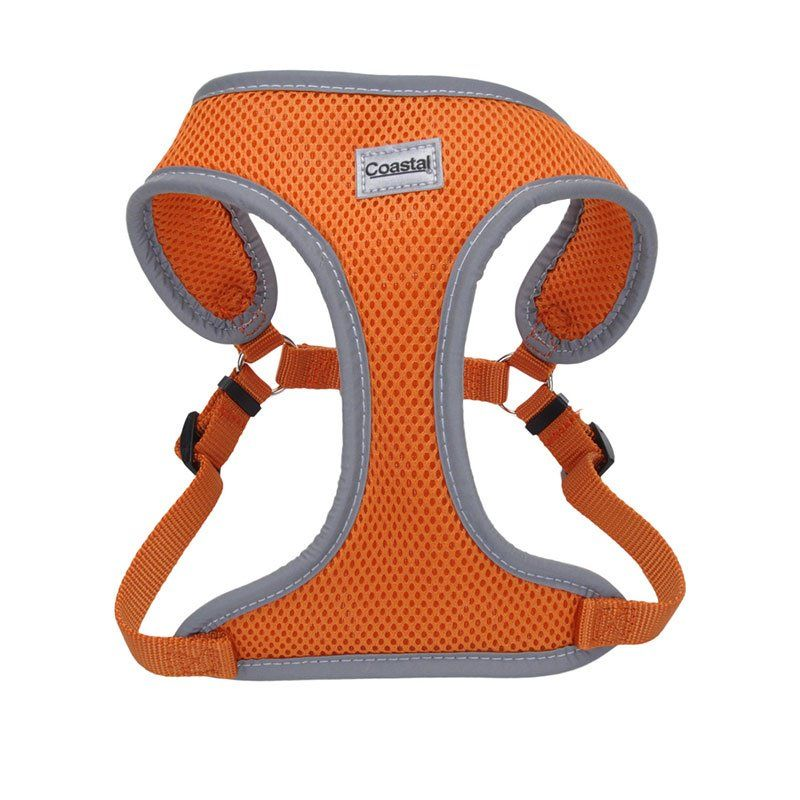"Coastal Pet Comfort Soft Reflective Wrap Adjustable Dog Harness - Sunset Orange Small - 19-23"" Girth - (5/8"" Straps) - All Pets Store"