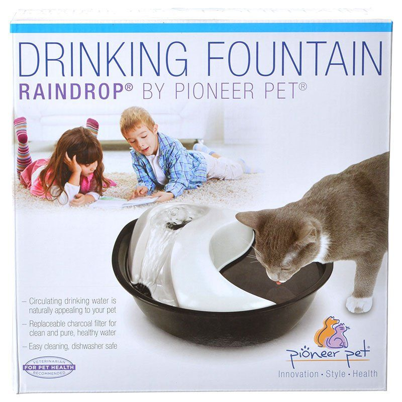 Pioneer Raindrop Plastic Drinking Fountain 60 oz - All Pets Store