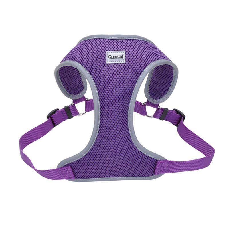 "Coastal Pet Comfort Soft Reflective Wrap Adjustable Dog Harness - Purple Medium - 22-28"" Girth - (3/4"" Straps) - All Pets Store"