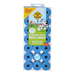 Bags on Board Waste Pick Up Refill Bags - Blue 315 Bags - All Pets Store