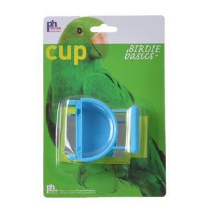 Prevue Birdie Basics Cup with Mirror 1 Pack - 1.5 oz - (Assorted Colors) - All Pets Store