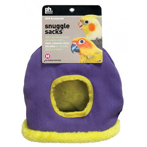 "Prevue Snuggle Sack Medium - 7.5""L x 5.25""W x 10""H - (Assorted Colors) - All Pets Store"