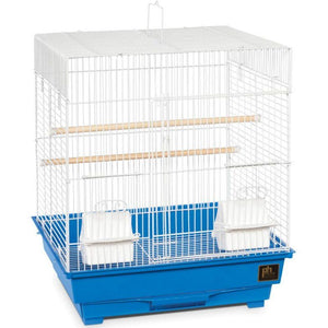 "Prevue Square Top Bird Cage Small - 1 Pack - (16""L x 14""W x 18""H) - All Pets Store"