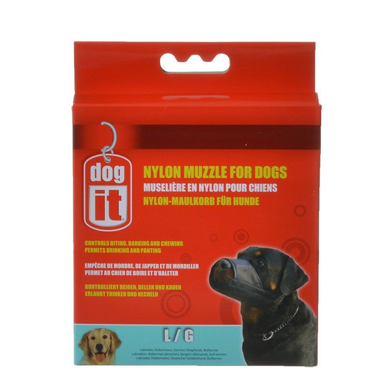 "Dog It Nylon Muzzle for Dogs Large - (7.3"" Long)"