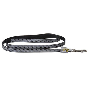 "Lazer Brite Reflective Open-Design Dog Leash - Black Chain Link 4' Long x 5/8"" Wide - All Pets Store"