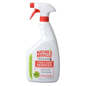 Nature's Miracle Just for Cats Stain & Odor Remover 32 oz - Spray - All Pets Store