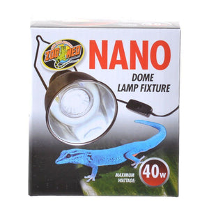 "Zoo Med Nano Dome Lamp Fixture 40 Watt - (4"" Diameter) - All Pets Store"