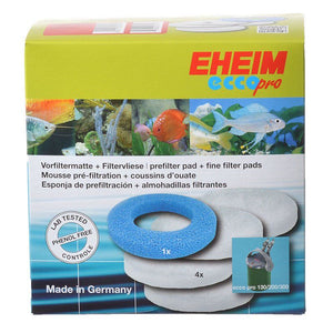 Eheim Ecco Pro Fine & Coarse Filter Pad Set 5 Pack - (4 Fine, 1 Coarse) - All Pets Store