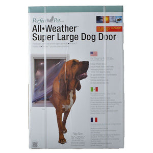"Perfect Pet All Weather Pet Door Super Large - (15""W x 23.5""H) - All Pets Store"