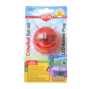 "Kaytee Crittertrail LED Bubble Plug - Nighttime 1 Pack - (2"" Diameter) - All Pets Store"