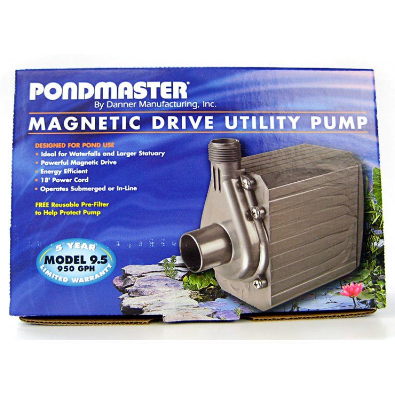 Pondmaster Pond-Mag Magnetic Drive Utility Pond Pump Model 9.5 (950 GPH) - All Pets Store