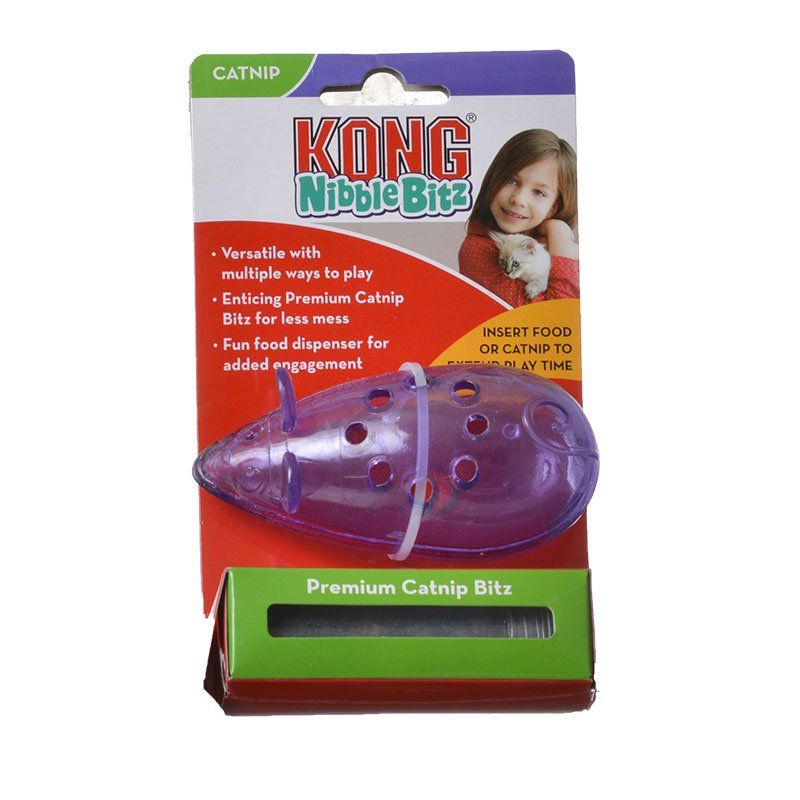 Kong Nibble Bitz Mouse Cat Toy 1 Pack