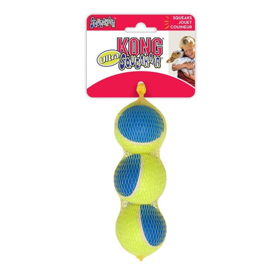 "Kong Ultra Squeakair Ball Dog Toy Medium - 3 Pack - (2.5"" Diameter) - All Pets Store"