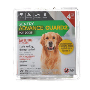 Sentry Advance Guard 2 for Dogs Dogs 21-55 lbs - 4 Month Supply - All Pets Store