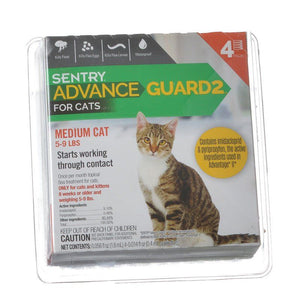 Sentry Advance Guard 2 for Cats Cats 5-9 lbs - 4 Month Supply - All Pets Store