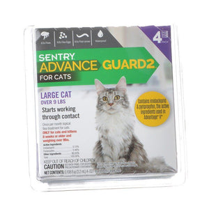Sentry Advance Guard 2 for Cats Cats 9+ lbs - 4 Month Supply - All Pets Store