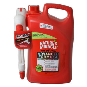 Nature's Miracle Advanced Stain & Odor Remover 1.3 Gallon AccuShot Power Spray Bottle - All Pets Store