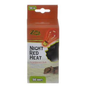 Zilla Incandescent Night Red Heat Bulb for Reptiles 50 Watt - All Pets Store