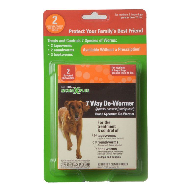 Sentry Worm X Plus - Large Dogs 2 Count