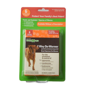 Sentry Worm X Plus - Large Dogs 6 Count - All Pets Store