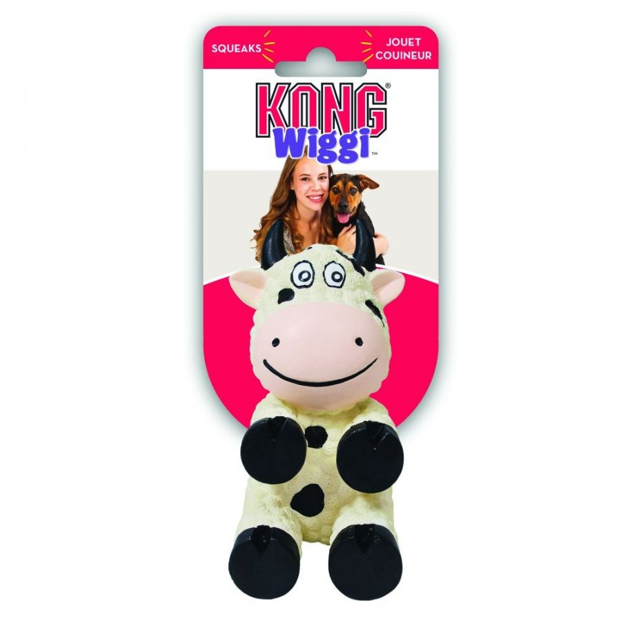 Kong Wiggi Cow Dog Toy Large - 1 Pack - All Pets Store
