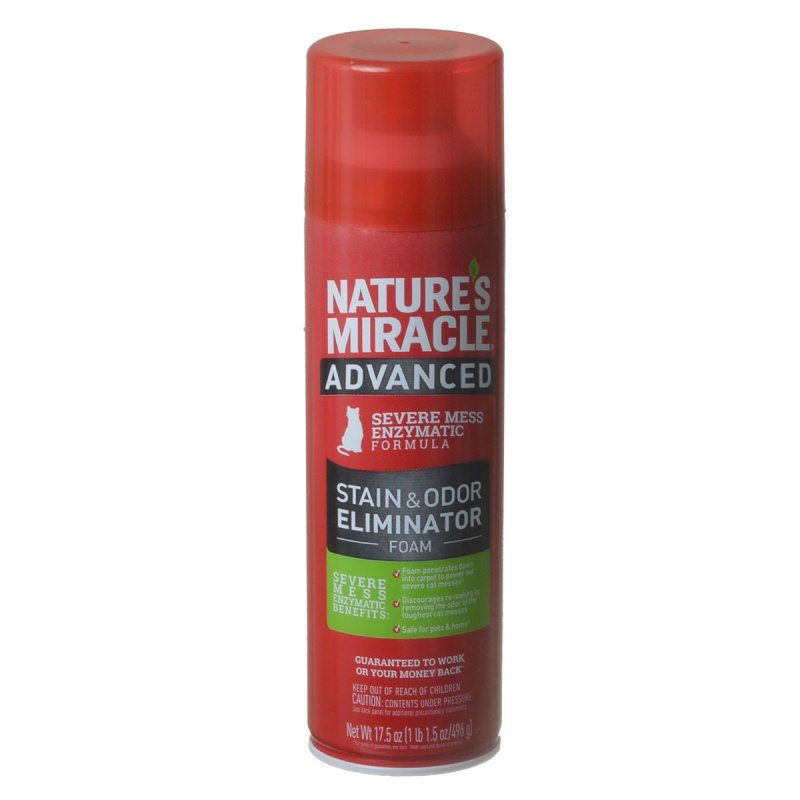 Nature's Miracle Just for Cats Advanced Enzymatic Stain & Odor Eliminator Foam 17.5 oz - All Pets Store