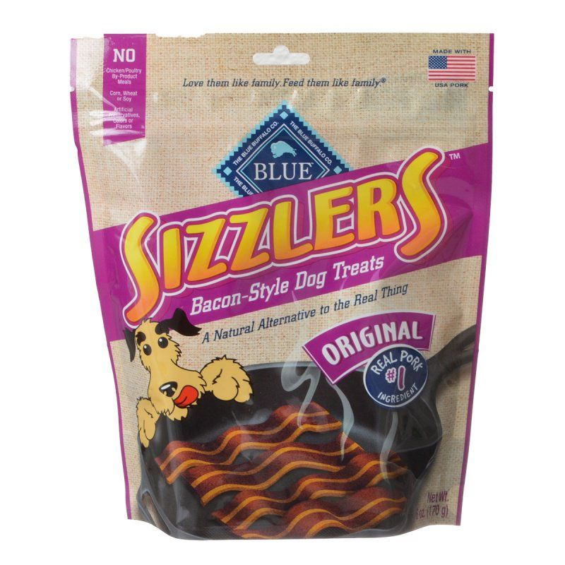 Blue Buffalo Sizzlers Bacon-Style Dog Treats 6 oz - All Pets Store