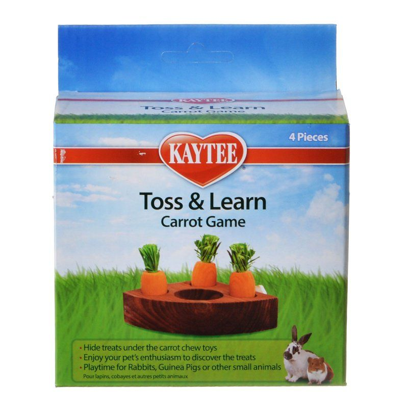 Kaytee Toss & Learn Carrot Game 1 Pack - (4 Pieces) - All Pets Store